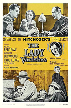Plakatmotiv (US): Eine Dame verschwindet – The Lady Vanishes (1938)