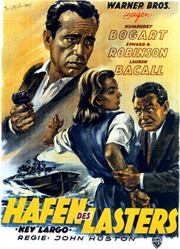 Kinoplakat: Hafen des Lasters – Gangster in Key Largo