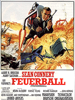 Kinoplakat: James Bond 007 – Feuerball