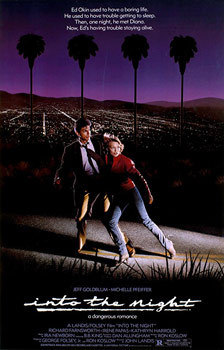 Plakatmotiv (US): Into the Night – Kopfüber in die Nacht (1985)