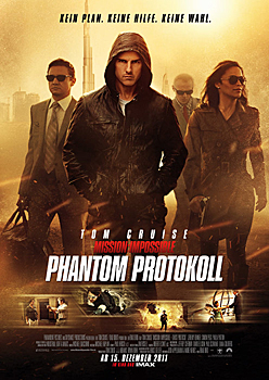 Kinoplakat: Mission Impossible - Phantom Protokoll