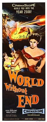 Plakatmotiv (US): World withot Ende – Planet des Grauens (1956)