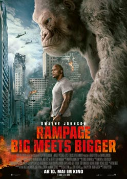 Kinoplakat: Rampage – Big meets Bigger