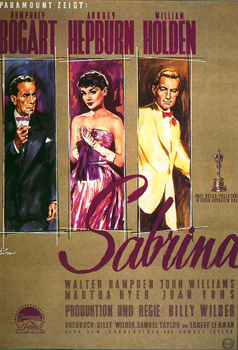 Kinoplakat: Sabrina (Billy Wilder, 1954)