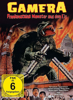 DVD-Cover: Gamera – Frankensteins Monster aus dem Eis (1965)