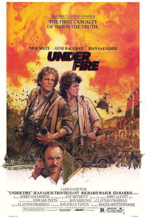 Plakatmotiv (US): Under Fire – Unter Feuer (1983)